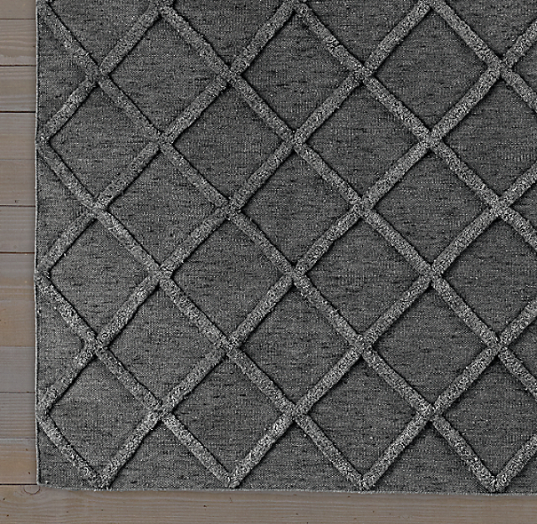 Diamante Flatweave Linen Rug Graphite Graphite Swatch