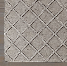 Diamante Flatweave Linen Rug - Taupe/Taupe Swatch