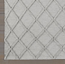 Diamante Flatweave Linen Rug - Light Grey/Light Grey Swatch