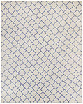 Staggered Diamond Flatweave Rug - Ivory/Lavender