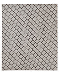Staggered Diamond Flatweave Rug - Grey/Black