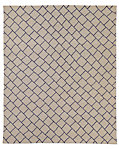 Staggered Diamond Flatweave Rug - Taupe/ Aubergine