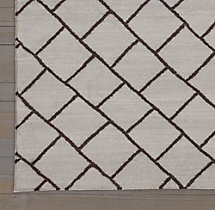 Staggered Diamond Flatweave Rug Swatch - Grey/Black