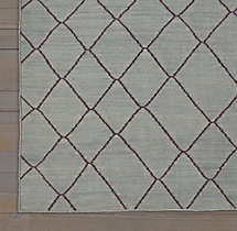 Moroccan Diamond Flatweave Rug Swatch - Grey