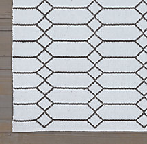 Extended Diamond Flatweave Rug Swatch - Blue/Graphite
