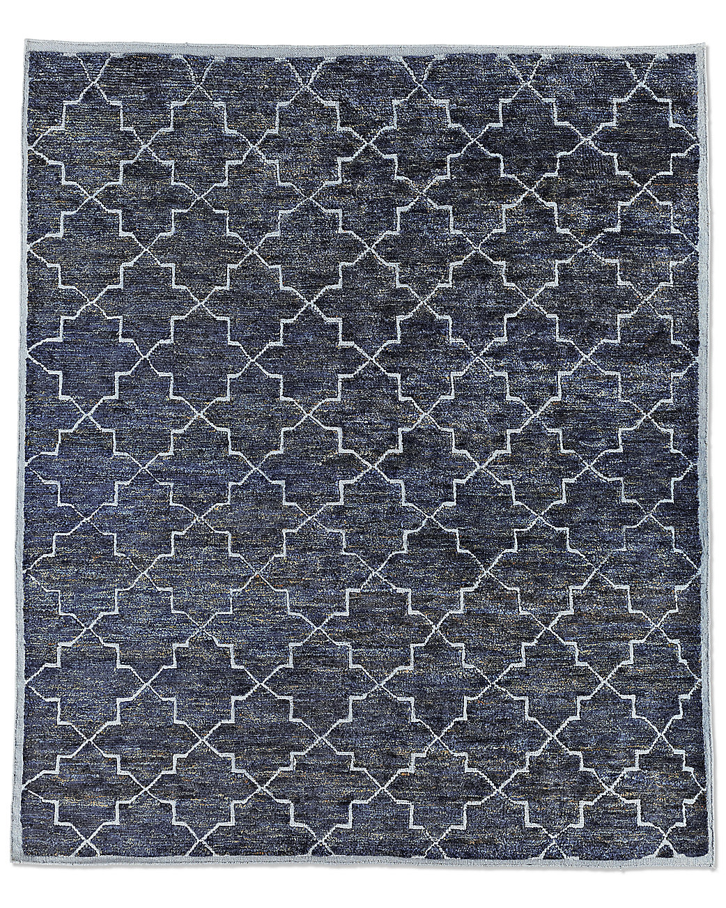Moroccan Star Rug - Navy