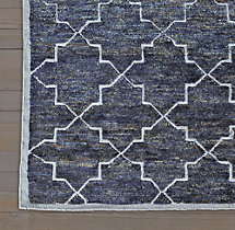 Moroccan Star Rug Swatch - Navy