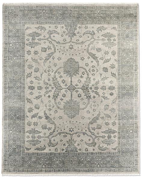 Hana rug silver sage for Restoration hardware rugs on sale