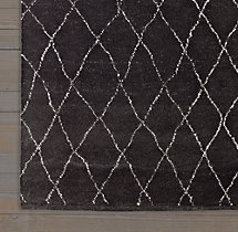 Dara Rug Swatch - Black