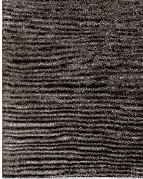 Textured Cord Rug - Black
