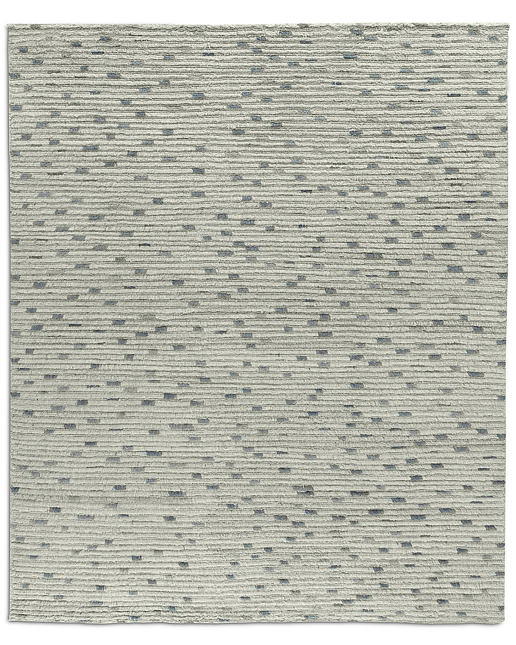 Naturale Ribbed Wool Rug Mist