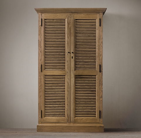Shutter Single Armoire - All Armoires & Shoe Towers RH