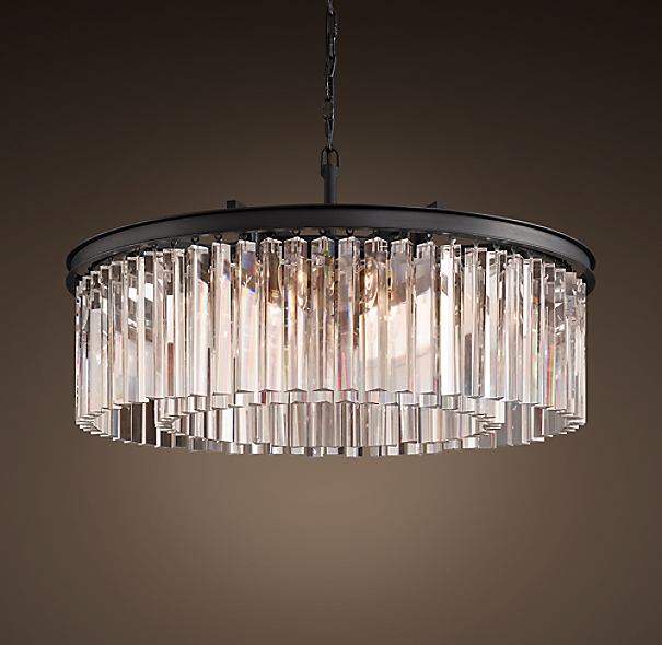 Rhys Clear Glass Prism Round Chandelier 32 Quot
