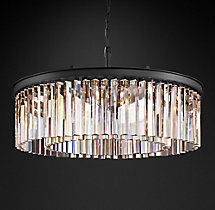 Rhys Clear Glass Prism Round Chandelier 30""