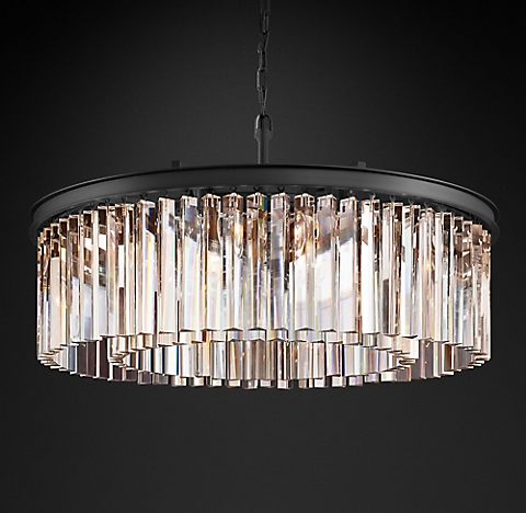 Rhys glass prism chandelier collection rh more finishes rhys clear glass prism round chandelier aloadofball Gallery