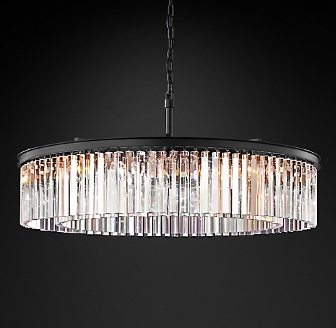 Rhys glass prism chandelier collection rh more finishes aloadofball Gallery