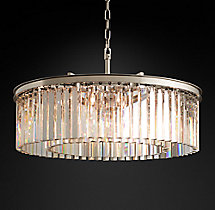 Rhys Clear Glass Prism Round Chandelier 32""