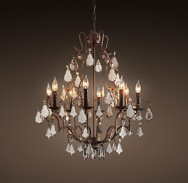 Mercury glass chandelier 26 florian mercury glass chandelier 26 aloadofball Choice Image