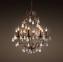 Florian Mercury Glass Chandelier 26""