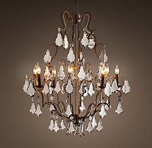 Florian Mercury Glass Chandelier 32""
