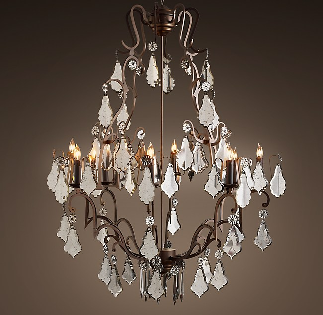 Mercury glass chandelier 40 florian mercury glass chandelier 40 aloadofball Choice Image