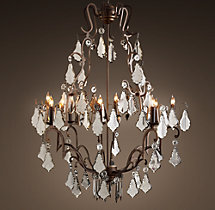 Florian Mercury Glass Chandelier 40""