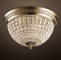 19Th C. Casbah Crystal Flushmount 24""