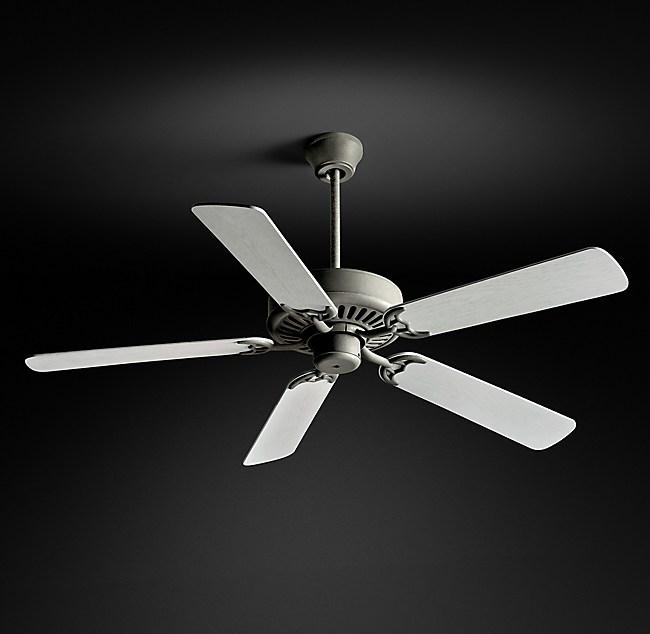 Bistro Ceiling Fan Galvanized Steel