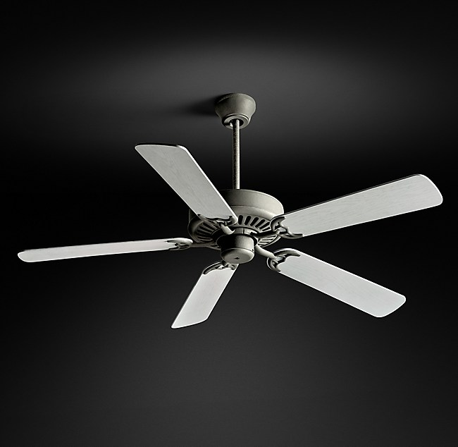 Bistro ceiling fan galvanized steel aloadofball Image collections
