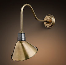 Vintage Barn Angled Shade Sconce