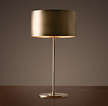 Antiqued Metal Drum Table Lamp