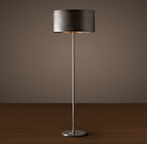 Antiqued Metal Drum Floor Lamp