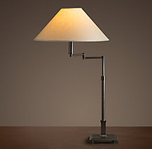 Classic Candlestick Swing-Arm Table Lamp