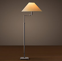 Classic Candlestick Swing-Arm Floor Lamp