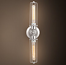 Edison Caged Inline Double Sconce