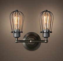 Marconi Caged Double Sconce