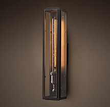 Union Filament Clear Glass Narrow Tall Sconce