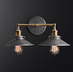 Bathroom Lighting Restoration Hardware wall | rh