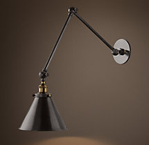20TH C. Library Double Sconce