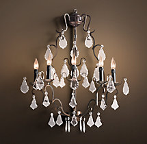 Florian Crystal Sconce - 29""
