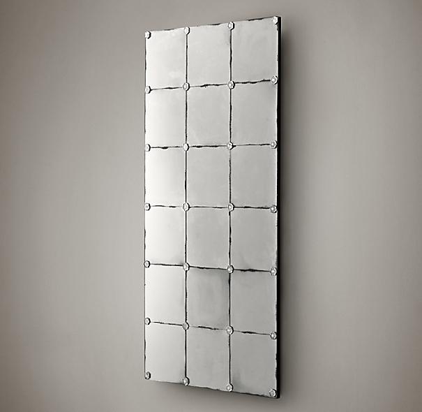 Belle Epoque Antiqued Panel Mirror