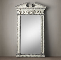 Entablature Mirror - Antiqued Grey
