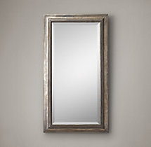 "English Aged Nickel Mirror 26"" x 48"""