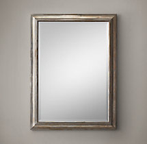 "English Aged Nickel Mirror 36"" x 48"""