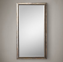"English Aged Nickel Leaner Mirror 42"" x 78"""