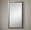 English Aged Nickel Mirror