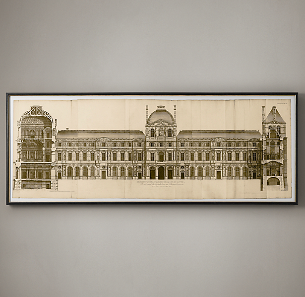 Circa 1756 Elevation Of The Louvre