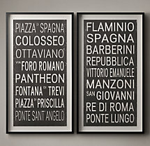 Vintage Bus Scroll Spagna & Flaminio