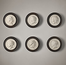 19th C. Composer Intaglios (Set of 6)