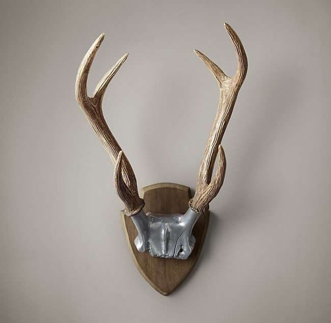 Deer Antlers In Cast Resin Aluminum